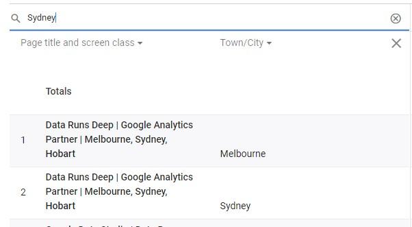 App + Web Secondary Dimension Search